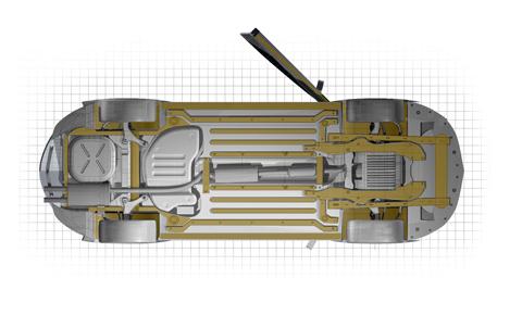 Dinitrol ML Rostskyddsbehandling Steg 4: Underredsbalkar, tröskellådor och hjulupphängning behandlas med en tunn hålrumsprodukt