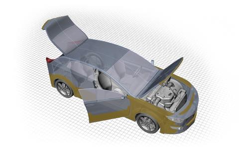 Dinitrol ML Rostskyddsbehandling Steg 3: Bagagelucka, bagageutrymme och reservhjulsbalja behandlas med en tunn hålrumsprodukt