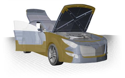 Dinitrol ML Rostskyddsbehandling Steg 1: Motorhuv, motorrum och batterihylla behandlas med en tunn hålrumsprodukt